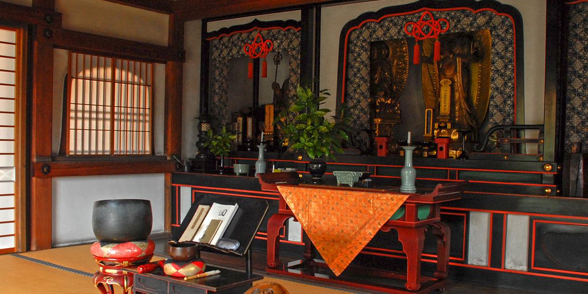 京都の樹木葬がある大徳寺の正受院の本堂